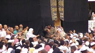Women reach Black Stone despite crowd Hajar Aswad Touch  hajj or umra makka