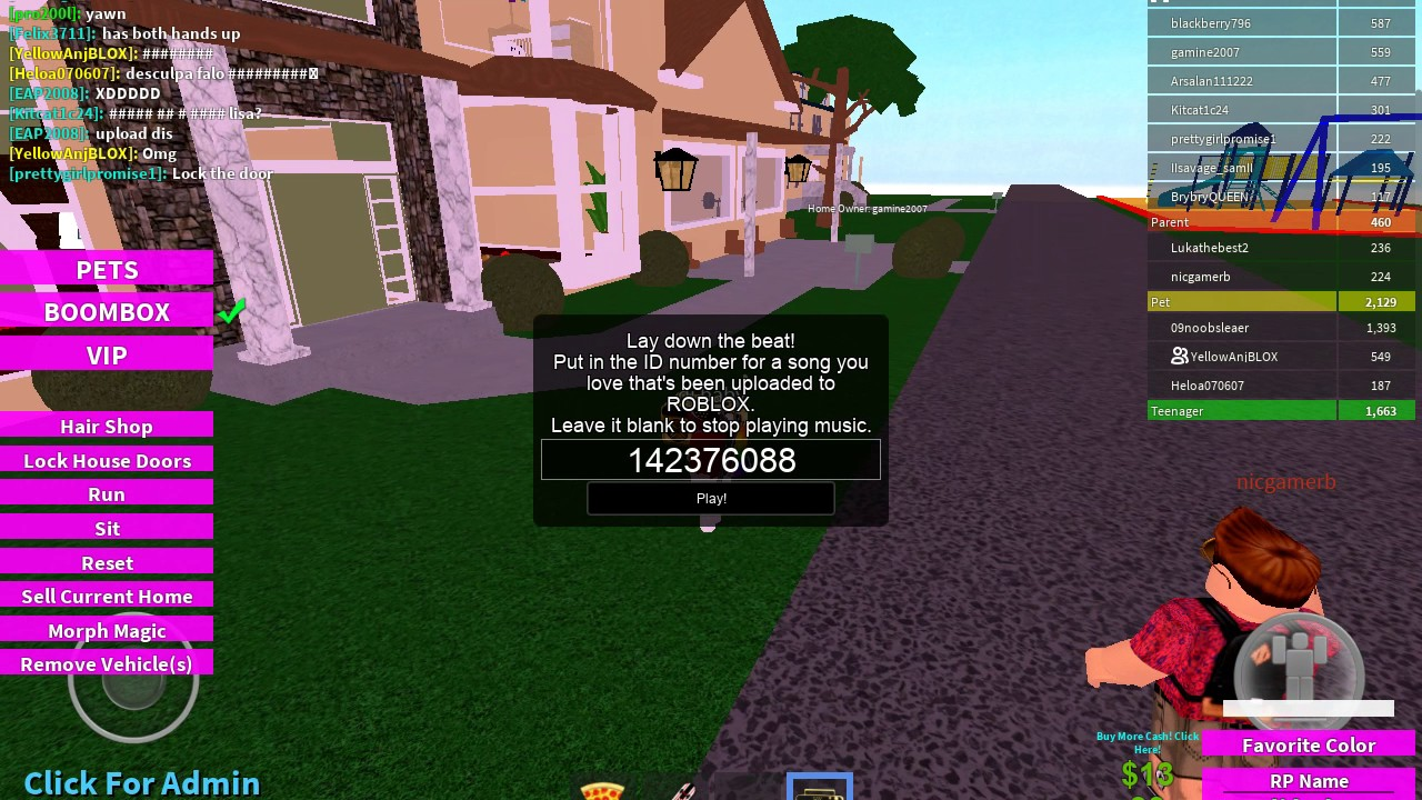 Ids For Boombox In Roblox Adopt And Raise A Cute Kid Youtube
