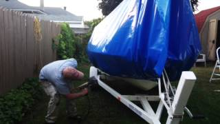 Shrink Wrapping a 16 ft Glastron Bowrider for Winter Storage