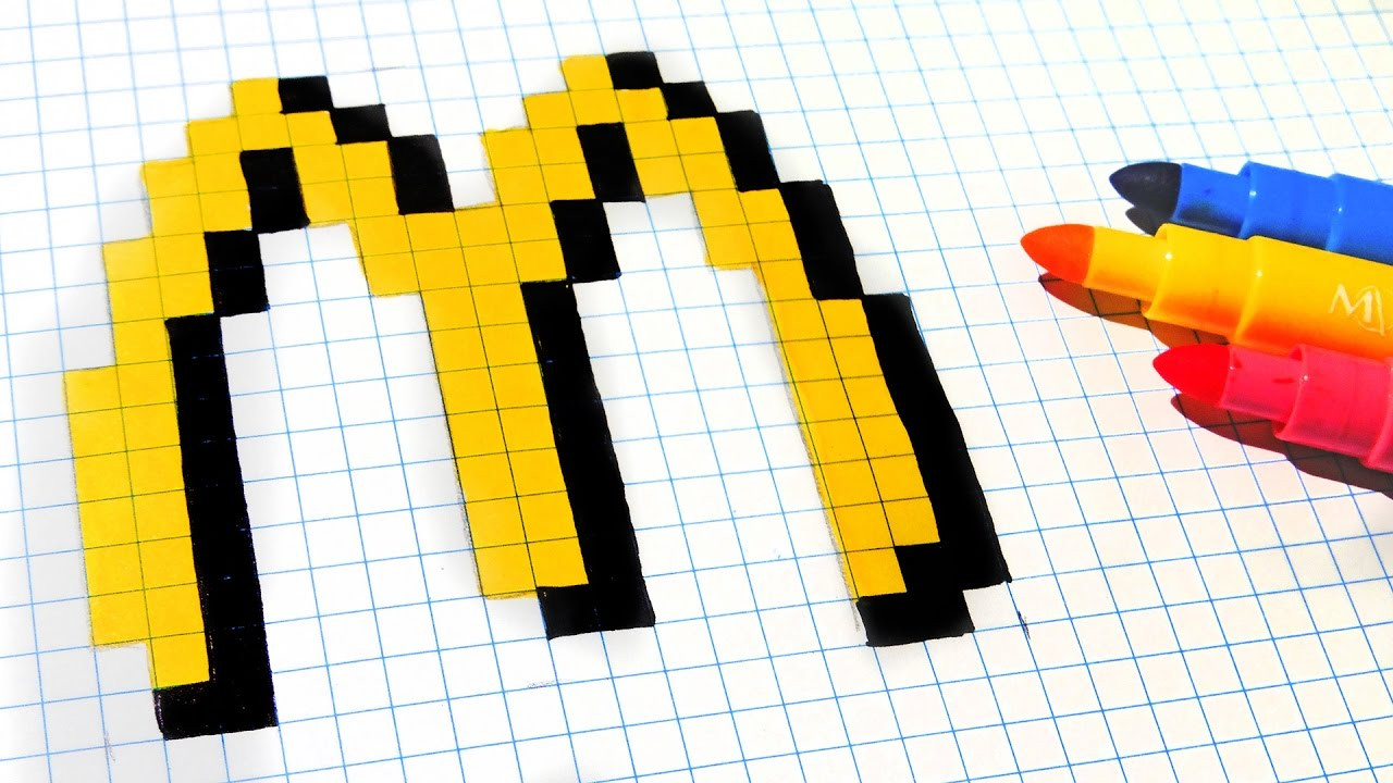 Handmade Pixel Art How To Draw Mcdonalds Logo Pixelart