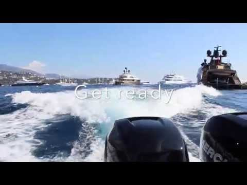 Fast speed boat around Monaco Port Hercule