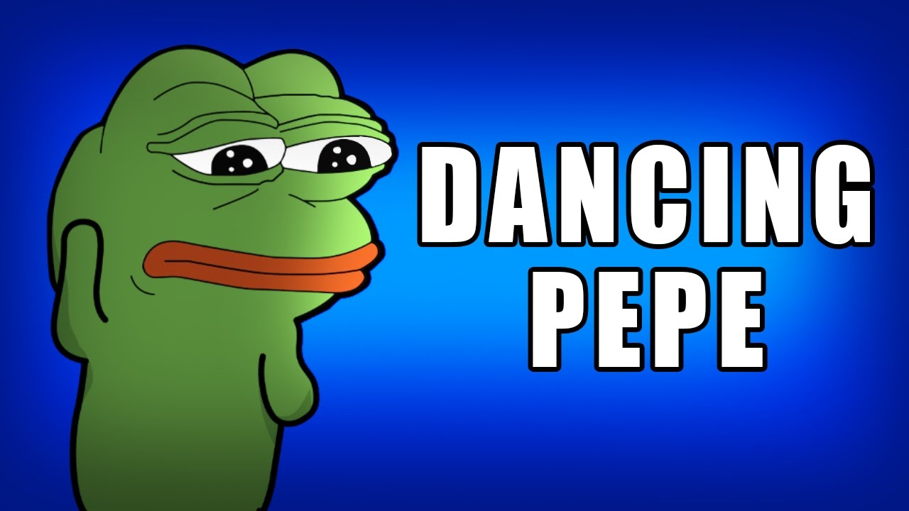 Dancing Pepe HD Remake Blue screen Chroma key