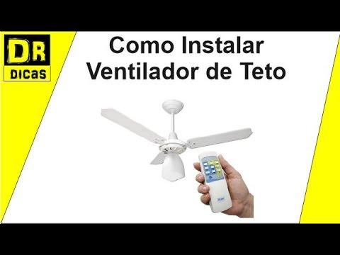 Como instalar ventilador de teto com controle remoto - Ventilador de columna ...