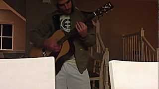 just playing a song i made up this night acoustic guitar yamaha f335