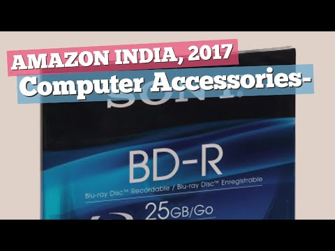 Computer Accessories- Blank Media, Best Sellers Collection // Amazon India, 2017