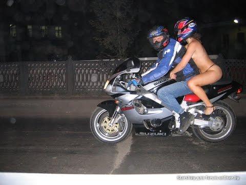 Девушка на мотоцикле. Приколы про девушек