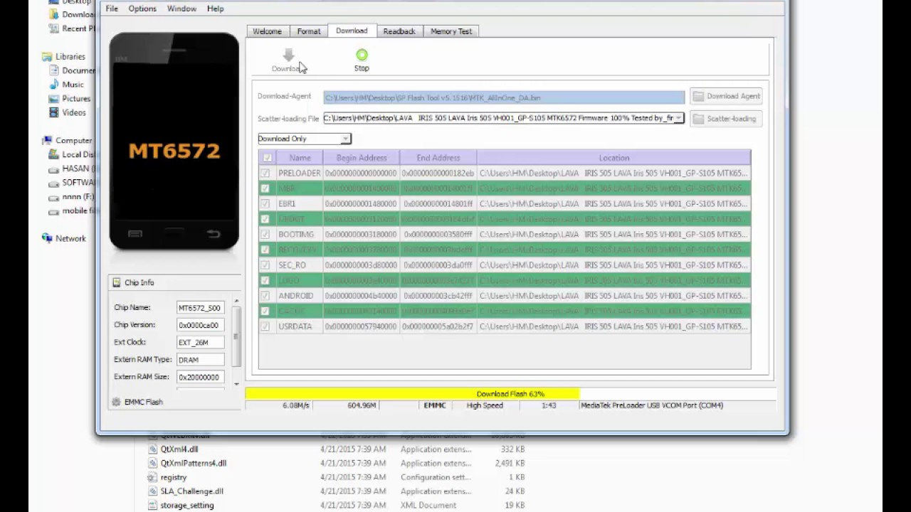 How to Lava iris 505 Restart/blue Screen/Logo Hang Solved, flash test 1000%  (A-Z Technology)
