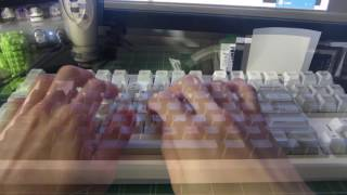 typing test pbt sa ice caps vs stock abs keycaps kul es 87