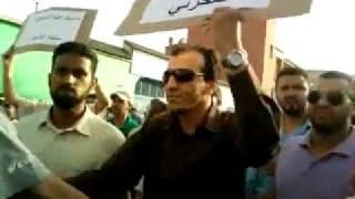 Chmkaras et Baltagis face aux marcheurs du Mouvement 20 Février Casablanca Maroc Hay Mohammedi