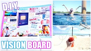 HOW TO MAKE A VISION BOARD! | Mine's Already Coming True!