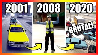 Evolution of TRAFFIC LOGIC in GTA Games (2001-2020)