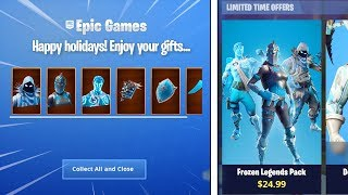 "NOUVEAU ""Frozen Legends"" SKIN BUNDLE dans Fortnite Battle Royale! (New Fortnite Skins)"