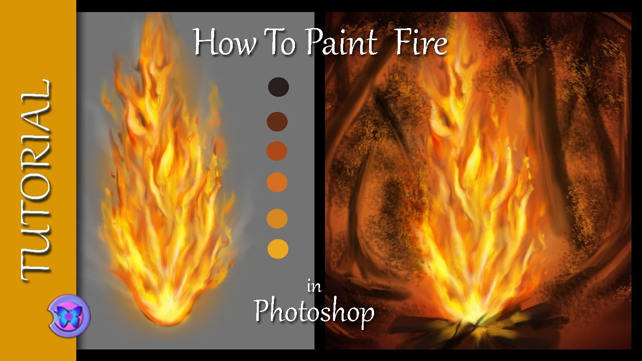 How To Paint Fire In Photoshop - A Basic Tutorial For Beginners ...