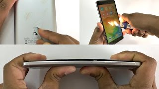 xiaomi redmi note 4 bend test scratch test burn test