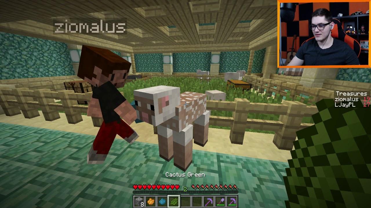 """Minecraft: Prismarine Lab #5 – """"Wodny parkour!"""" w/ Zio"""