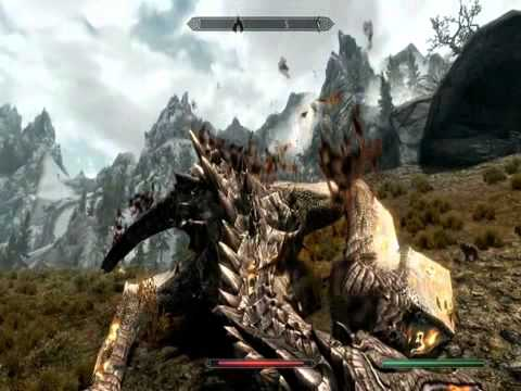 SKYRIM :DRAGONBORN vs DRAGONS COMPILATION(music:CHOSEN ONES+soundtrack).flv