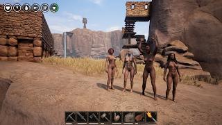 Conan Exiles грудастые амазонки в суровых условиях конанизма...