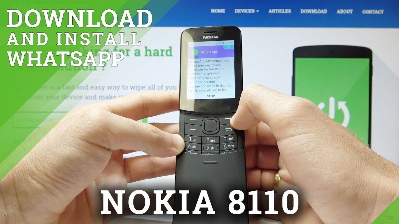 How To Download And Install Whatsapp In Nokia 8110 Youtube
