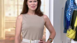 Liz Claiborne New York Midi Dress with Lace Trim on QVC