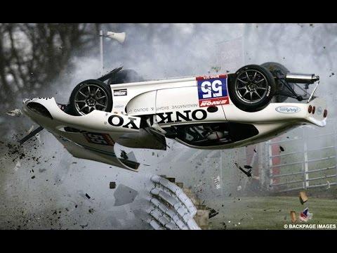 Подборка аварий на гонках, самые жестокие и зрелищные автокатастрофы, машины в дребезги 18+ #1