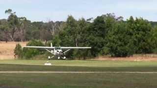 Cessna 150 deadstick landing demo at Tyabb Airshow 2012