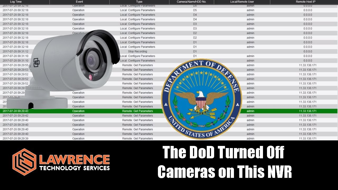 The DoD Turned Off The Cameras On This NVR