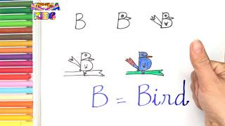 How To Draw and Color a Bird Easy Steps By Step ✅How To Teach Baby To Speak English