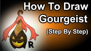 How To Draw Gourgeist Step By Step