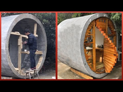 Converting a Concrete Pipe Into an Amazing Cabin Home