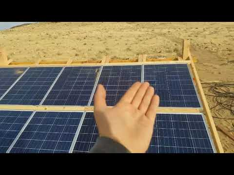 Built in a day solar panel array