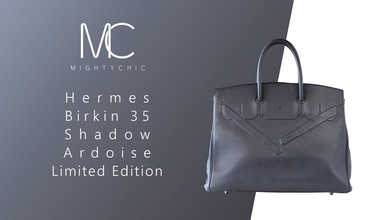89f33abbc5e MIGHTYCHIC • Hermes Birkin 35 Shadow Ardoise Limited Edition - YouTube