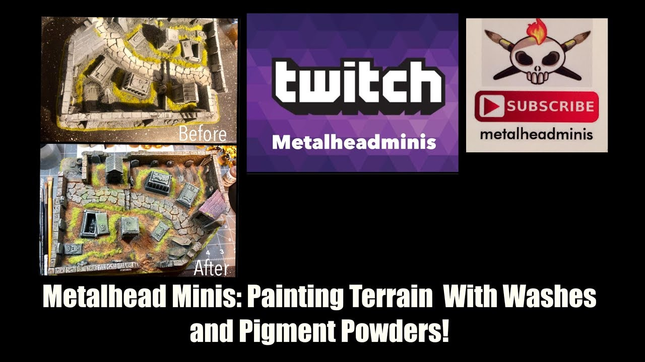 Metalhead Minis: Painting a Terrain Piece With Washes and Pigment Powders!