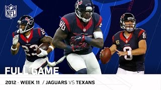 Andre Johnson & Matt Schaub Lead Texans Comeback, OT Win vs. Jaguars (Week 11, 2012) | NFL Full Game