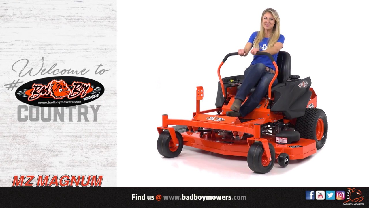 Bad Boy Mowers 2018 Mz Magnum Approved Accessories Youtube