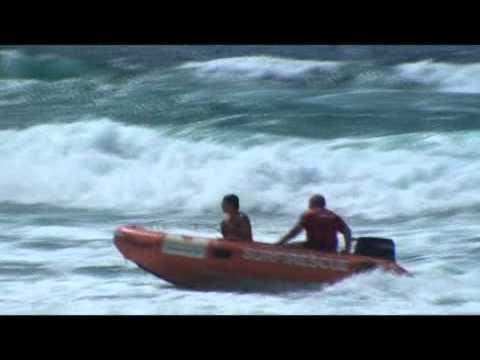 SURF RESCUE  TRAINING ON AUSTRALIA MAIN BEACH QLD 4217
