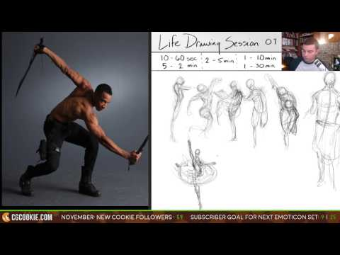 Stream: Life Drawing Session Fall 2016