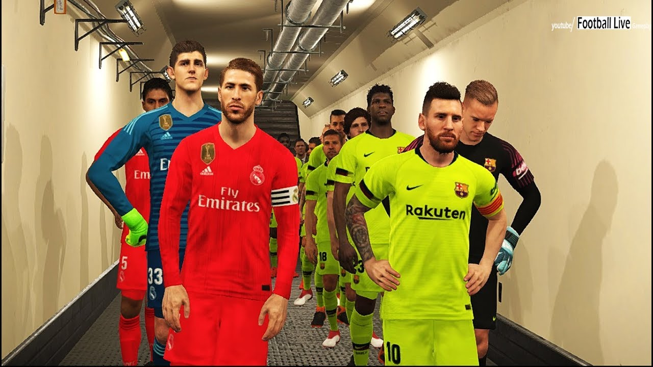 PES 2018 | FC Barcelona vs Real Madrid | Full Match & Amazing Goals |  Gameplay PC