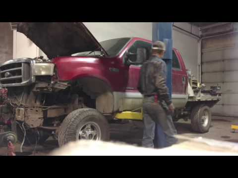 7.3 powerstroke cab removal