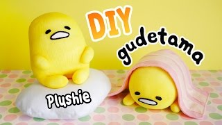 DIY Gudetama Plushie with 3 Simple Materials!! ぐでたま Lazy Egg Plushie Tutorial