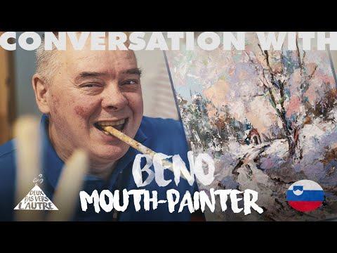 The passion of a lifetime - Interview of Benjamin Žnidaršič, Mouth painter, Association Ars Viva