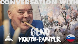 The passion of a lifetime - Interview of Benjamin Žnidaršič, Mouth painter, Association Ars Viva