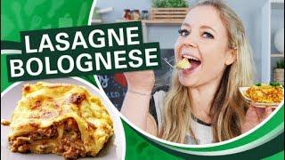 LECKERES Lasagne Bolognese Rezept - einfach und schnell selber machen