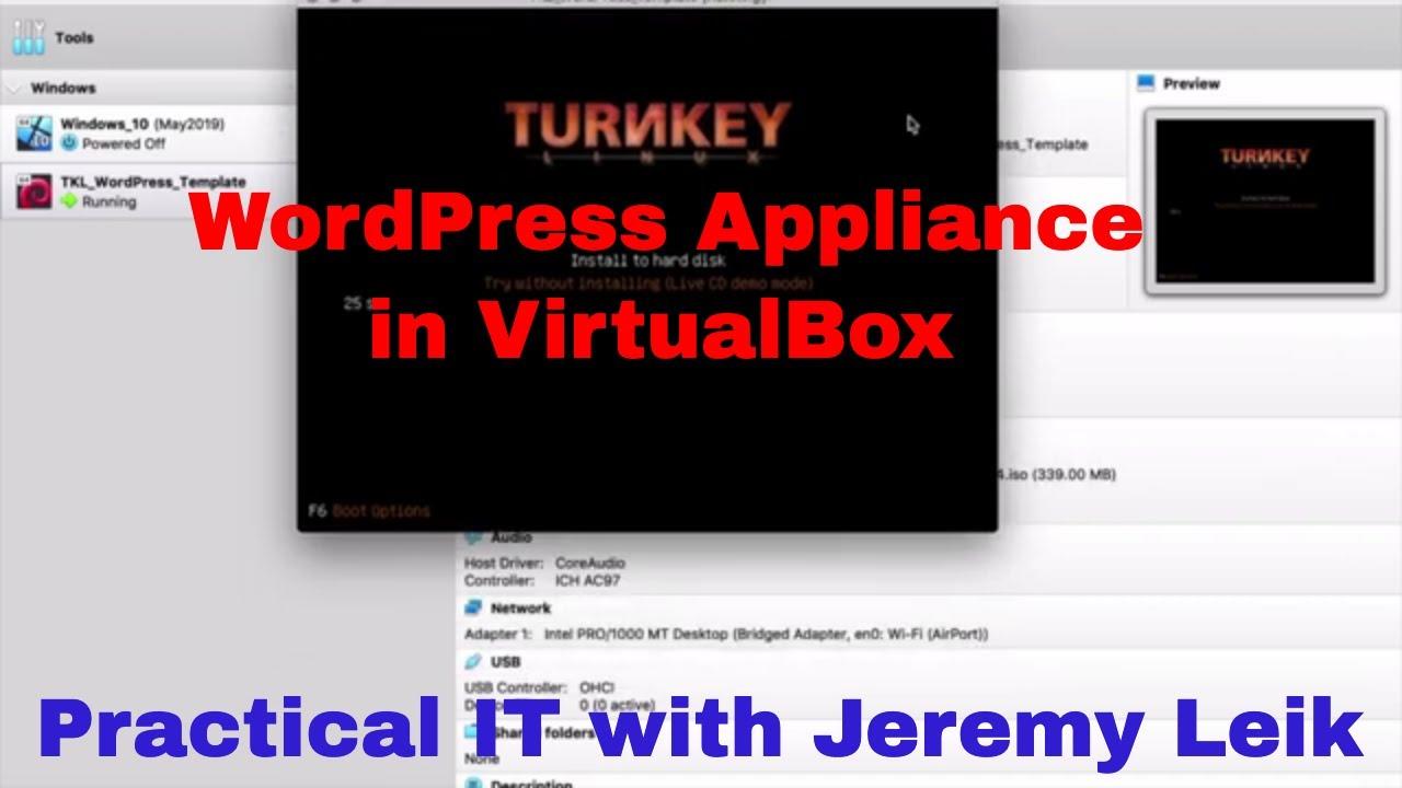 TurnKey Linux WordPress Appliance in VirtualBox #VirtualBox #WordPress  #TurnKeyLinux