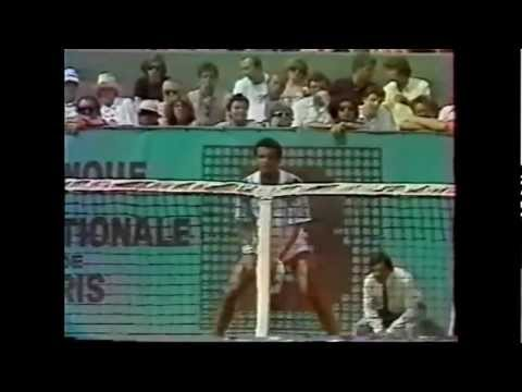 Henri Leconte vs Yannick Noah 1985 French Open 2/4