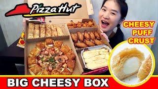 PIZZA HUT BIG CHEESY BOX (Eating Show - Mukbang) Peggie Eats...