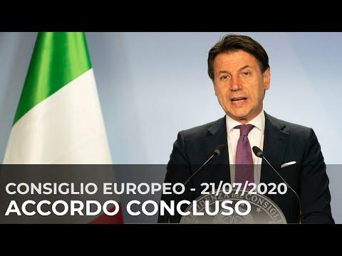 Consiglio europeo straordinario, conferenza stampa del Presidente Conte (21/07/2020)