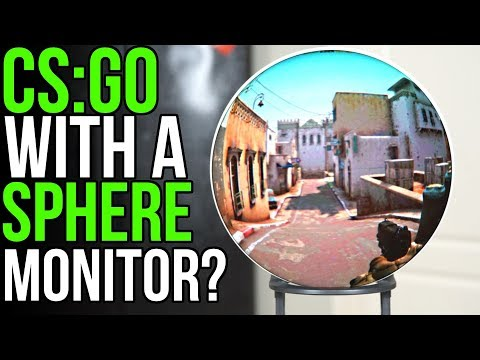 What's it like playing CS:GO on a spherical screen??