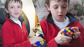 Eight Year Old Explains How to Solve a Rubik's Cube!