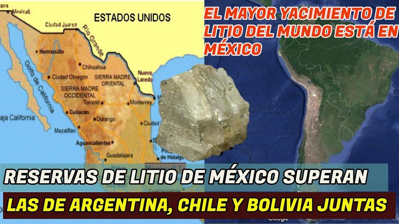 Reservas de Litio de México superan a las de Argentina, Chile y Bolivia  juntos - YouTube