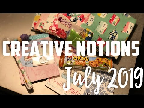 July 2019: Creative Notions Unboxing #glamping Mp3